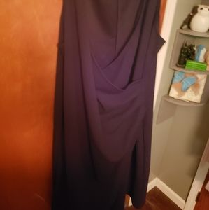Black club wrap dress
